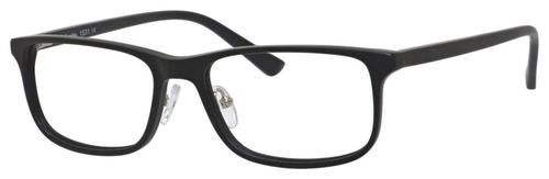 Esquire EQ1531 Mens Rectangular Frame Eyeglasses in Matte Black 55 mm