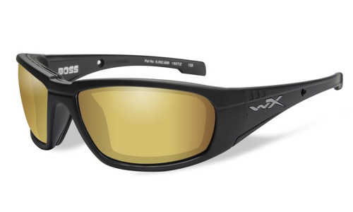 3a9d8c9e00 Wiley-X High Performance Eyewear Boss Sunglasses in Black with Polarized  Gold Mirror Lens (CCBOS04)