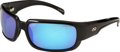 Ono's™™ Polarized Sunglasses: Araya in Black & Blue Mirror