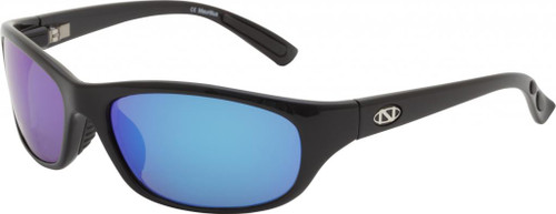 Ono's™™ Polarized Sunglasses: Carabelle in Black & Blue Mirror
