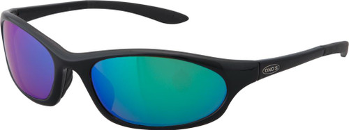 Ono's™™ Polarized Sunglasses: Grand Lagoon in Black & Green Mirror