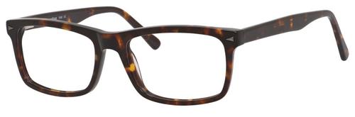Esquire Designer Mens EQ1548 Reading Eyeglasses in Shiny Tortoise 55 mm