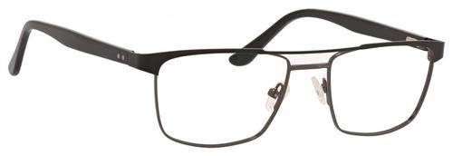 Esquire Mens EQ1565 Blue Light Blocking Filter+A/R Lenses Eyeglasses Black/Gunmetal 53 mm