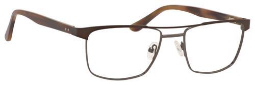 Esquire Mens EQ1565 Blue Light Blocking Filter+A/R Lenses Eyeglasses Brown 53 mm