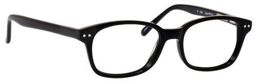 Ernest Hemingway H4602 Unisex Oval Frame Reading Eyeglasses in Black 50 mm