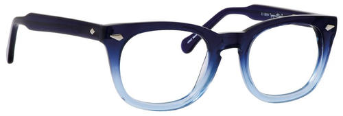 Ernest Hemingway H4668 Unisex Round Eyeglasses in Blue Fade 48 mm Custom Lens