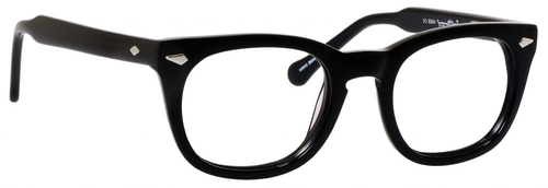 Ernest Hemingway H4668 Unisex Round Eyeglasses in Shiny Black 48 mm Custom Lens