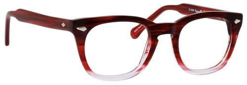 Ernest Hemingway H4668 Unisex Round Eyeglasses in Burgundy Fade 48 mm