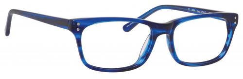 Ernest Hemingway H4684 Unisex Oval Blue Light Blocking Filter+A/R Lenses Cobalt Blue 53 mm
