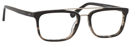 Ernest Hemingway H4825 Unisex Rectangular Frame Eyeglasses in Black/Amber 54 mm RX SV