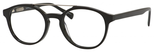 Ernest Hemingway H4826 Unisex Round Frame Eyeglasses in Shiny Black 50 mm RX SV