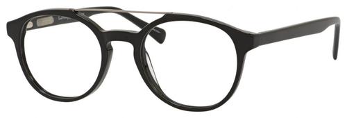 Ernest Hemingway H4826 Unisex Round Frame Eyeglasses in Shiny Black 50 mm Progressive