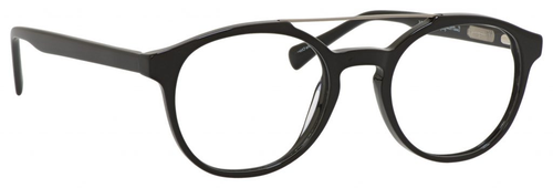 Ernest Hemingway H4826 Unisex Round Frame Eyeglasses in Shiny Black 50 mm Progressive