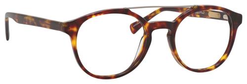 Ernest Hemingway H4826 Unisex Round Frame Eyeglasses in Shiny Tortoise 50 mm Custom Lens