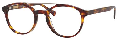 Ernest Hemingway H4826 Unisex Round Frame Eyeglasses in Shiny Tortoise 50 mm Progressive