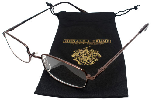 Donald Trump Designer Full Metal Reading Glasses DTR 01 Shiny Brown Copper 51mm