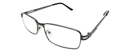 Donald Trump Designer Metal Reading Glasses DTR 08 in Dark Gunmetal Black 55mm