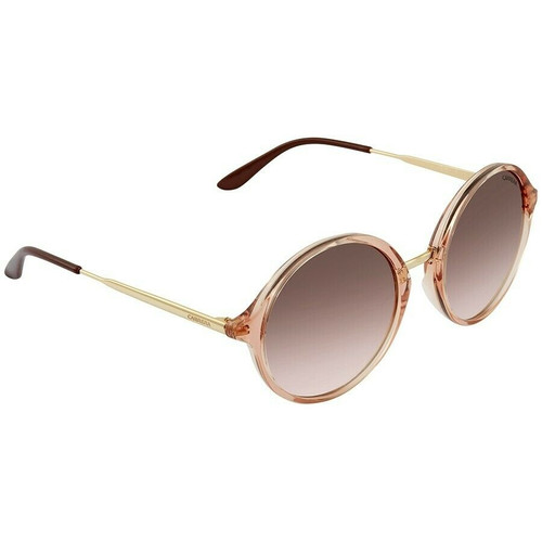 Carrera CA5031/S Women's Designer Sunglasses Round Pink Gold/Brown Mirror 52 mm