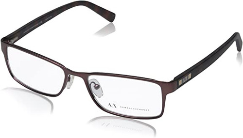 ARMANI EXCHANGE Designer Reading Eye Glasses in Brown AX1003-6016-52mm Bi Focal