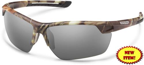 3f6c4ff430 Suncloud Contender Polarized Sunglasses in Matte Camo   Grey Lens