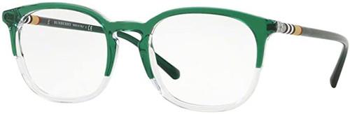 BURBERRY Prescription Eyeglasses VV-QA-BE2272-3718-51 mm Green Custom Left&Right Lens