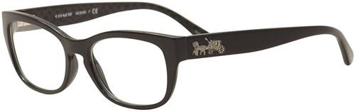 COACH EYE Prescription Eyeglasses RVP-EA-HC6104-5420-50 mm Black Custom Lens