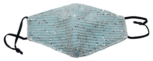 !Calabria Durable Cotton Sequin Lining Face Mask Built In Filter Pocket