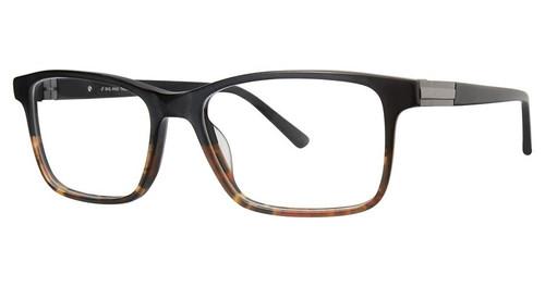 Big and Tall 17 Designer Prescription Eye Glasses in Matte Black Fade Tortoise 58 mm:: Rx Bi-Focal