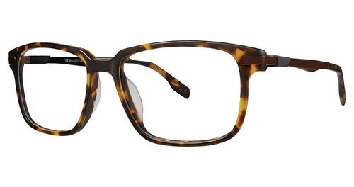 Big and Tall 18 Designer Prescription Eye Glasses in Demi Brown Amber 57 mm:: Rx Bi-Focal