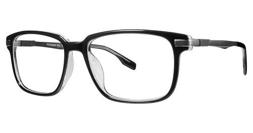 Big and Tall 18 Designer Prescription Eye Glasses in Black Crystal 57 mm:: Rx Bi-Focal
