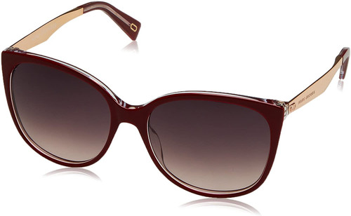 Marc Jacobs Designer Sunglasses MARC203 Ople Burgundy Red/Brown Gradient 56mm