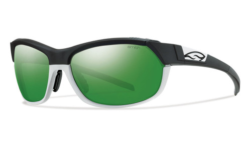 Smith Optics Overdrive Designer Sunglasses in Black White with Green-Sol-X/Ignitor/Clear Lens Set
