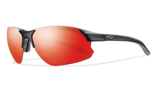 Smith Optics Parallel D Max Designer Sunglasses in Matte Black with Red Sol-X / Clear / Ignitor Lens Set