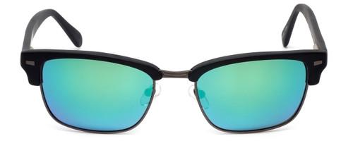 Calabria Viv Sunglass Collection 791S in Matte-Black & Polarized Green Mirror