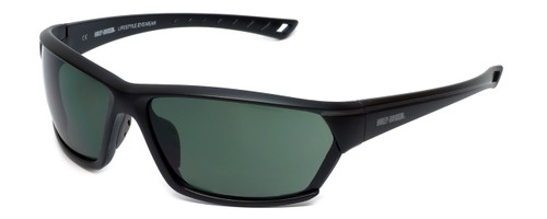 Harley-Davidson Official Designer Sunglasses HD0106V-02N in Matte-Black Frame with Green Lens