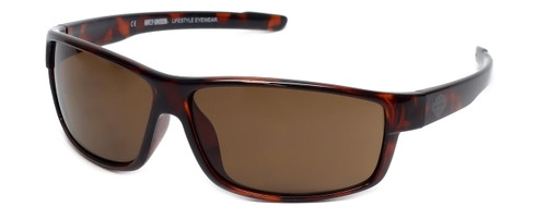 Harley-Davidson Official Designer Sunglasses HD0109V-52E in Brown Frame with Amber Lens