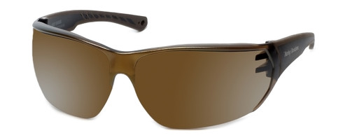 Harley-Davidson Official Designer Sunglasses HD0105V-5G in Brown Frame with Gold-Mirror Lens