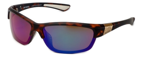 Harley-Davidson Official Designer Sunglasses HD0629S-52Q in Tortoise Frame with Green-Mirror Lens