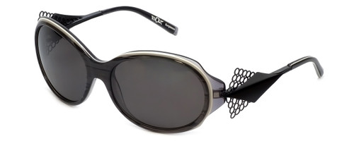 BOZ Designer Sunglasses New Age 0505 in Black Grey Frame & Grey Lens 57mm