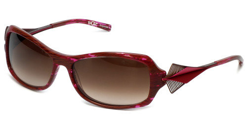 BOZ Designer Sunglasses New York 8292 in Violet Frame & Brown Gradient Lens 59mm
