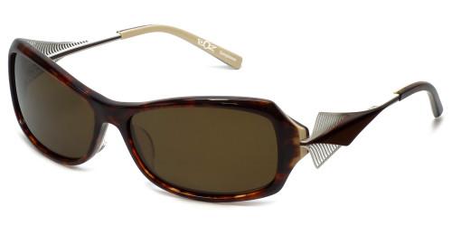 BOZ Designer Sunglasses New York 9515 in Tortoise Frame & Brown Lens 59mm