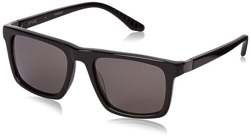 Spine Optics Designer Sunglasses SP3004-001 in Black with Grey Tint 53mm