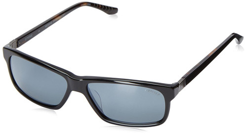 Spine Optics Designer Sunglasses SP7003-001 in Black with Polarized Silver Flash Mirrored Grey Tint 61mm