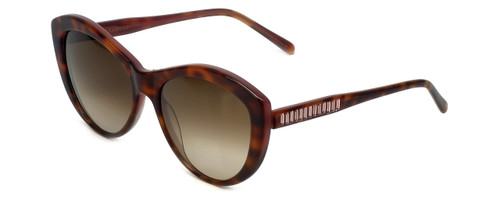 Vera Wang Designer Sunglasses Agnella in Tortoise Frame & Brown Gradient Lens 55mm