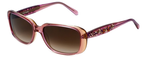 Vera Wang Designer Sunglasses Dalliance in Rose Frame & Brown Gradient Lens 54mm