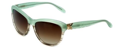 Vera Wang Designer Sunglasses Freya in Leaf Gradient Frame & Brown Gradient Lens 55mm