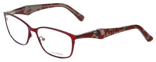 Vera Wang Progressive Lens Blue Light Reading Glasses V328 Ruby 53mm 4 Powers