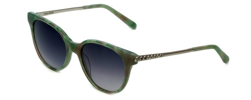 Vera Wang Designer Sunglasses Serova in Green Frame & Grey Gradient Lens 53mm