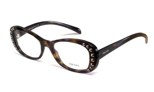 Prada Progressive Lens Blue Light Reading Glasses VPR21R Tortoise 51mm 20 Power