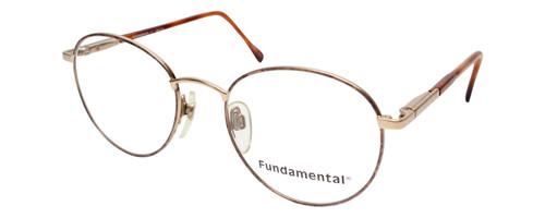 Calabria Designer Round Blue Light Filter Reading Glasses Fundamental Gold 52mm
